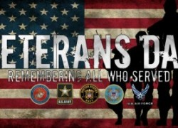 Open Veteran's Day and During Thanksgiving Break!